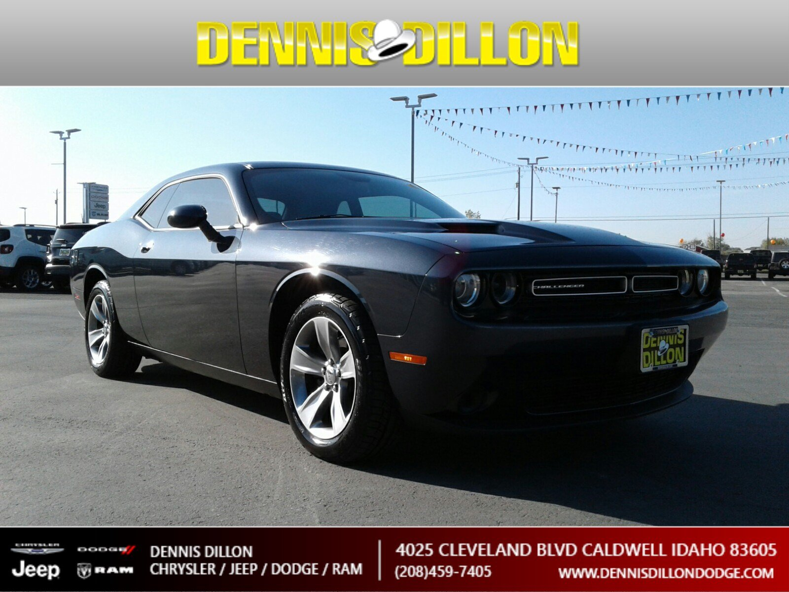 Dennis Dillon Dodge >> Certified Pre Owned 2018 Dodge Challenger Sxt Rwd 2dr Car